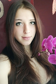 Ukrainian girl Oksana,24 years old with brown eyes and dark brown hair.