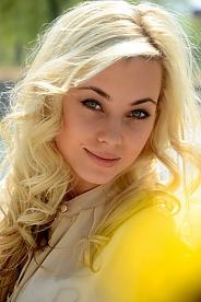 Ukrainian girl Inna,26 years old with green eyes and blonde hair.