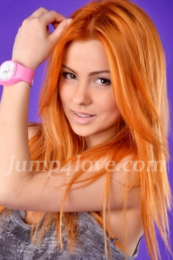 Ukrainian girl Radoslava,23 years old with brown eyes and red hair. Radoslava