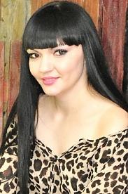 Ukrainian girl Irina,28 years old with black eyes and black hair.